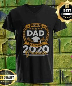 Official Proud Dad Of A Class of 2020 Graduate v neck
