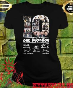 10 years of One Direction thank you for the memories signatures women's t shirt