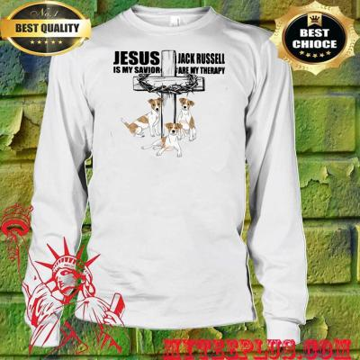 Jesus Is My Savior Jack Russell Are My Therapy men's long