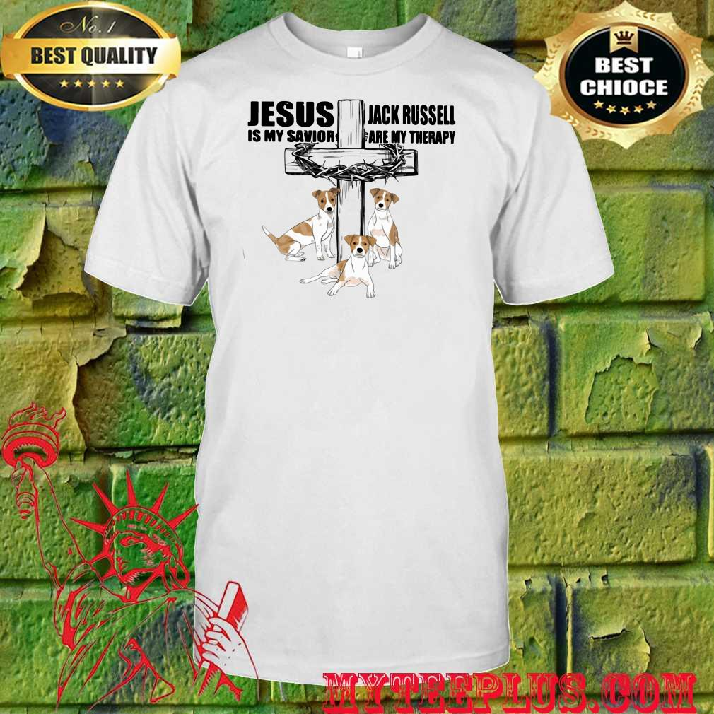 Jesus Is My Savior Jack Russell Are My Therapy Shirt