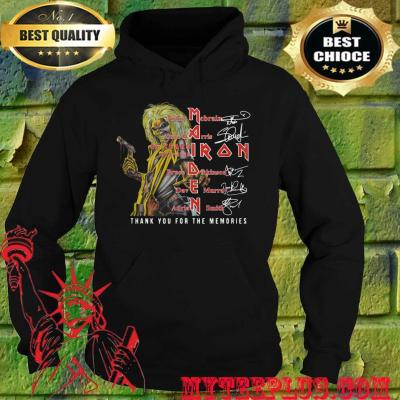 Maiden iron thank you for the memories band members signatures hoodie