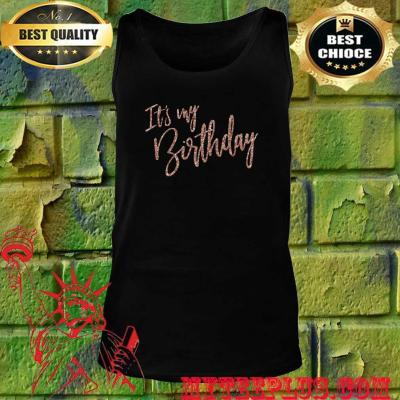 Official It's My Birthday tank top