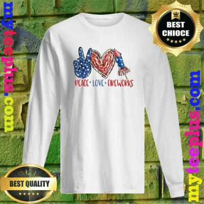 Official Peace Love Fireworks men's long