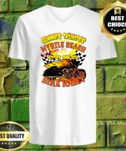 2020 Summer Thunder Hotter Than Hell Myrtle Beach Bike Rally v neck