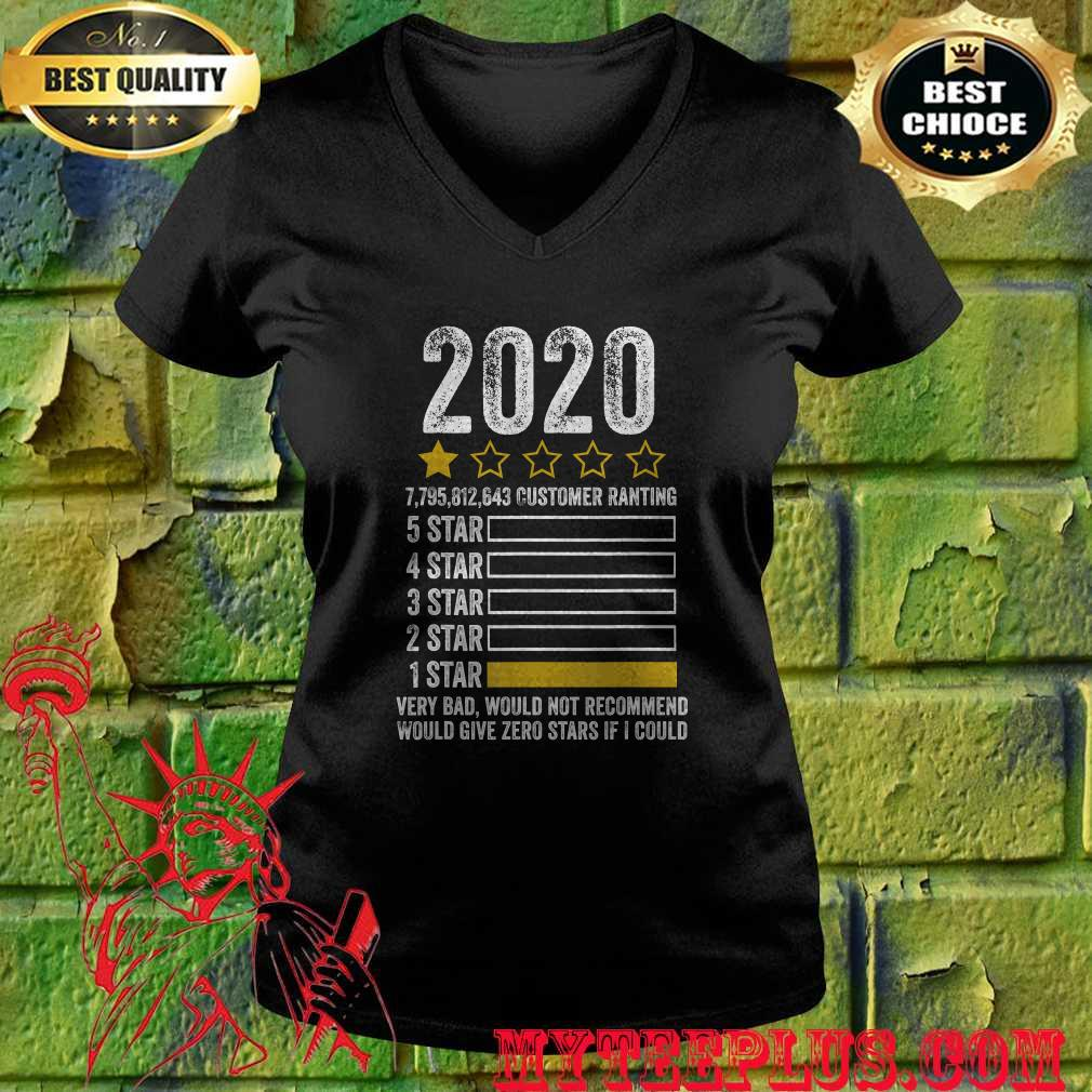 2020 Very Bad Would Not Recommend 1 star review T-Shirt