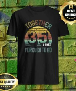 35 years wedding anniversary gifts for matching couples 35 t-shirt