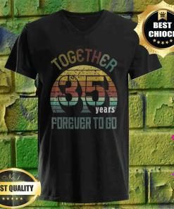 35 years wedding anniversary gifts for matching couples 35 v neck