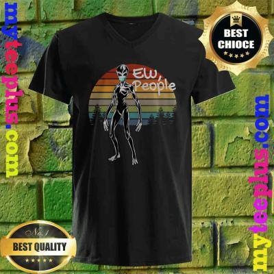 Cool Alien with Mask- Ew People - Wear a Mask v neck
