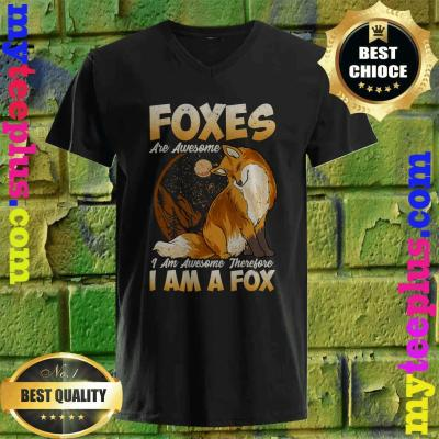 Fox Shirt Foxes Are Awesome Cute Fox v neck