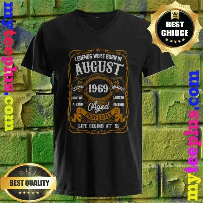 Legends Born In AUGUST 1969 51st Birthday 51 years old v neck