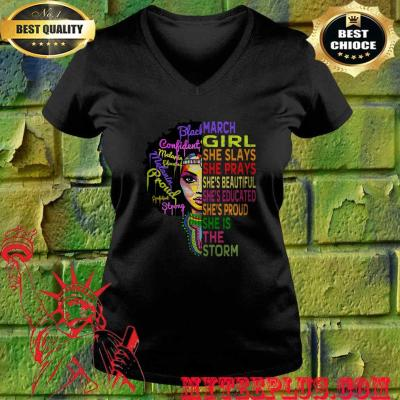 Womens march birthday girl queens are born in march v neck