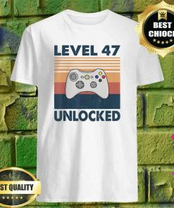 47th Birthday Boy Gamer Level 47 Unlocked shirt