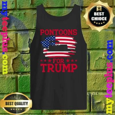 Funny Pontoons For Trump Patriots Boats Owner Support Trump 2020 tank top