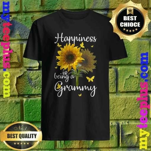 Happiness Is Being A Grammy Sunflower Gift T-Shirt