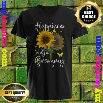 Happiness Is Being A Grammy Sunflower Gift v neck