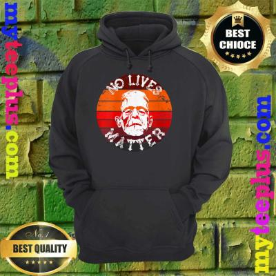 No Lives Matter Retro Horror Frankenstein Mask Halloween hoodie