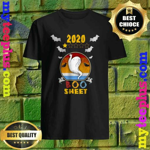 2020 Boo Sheet 1 Star Rating Funny Ghost Halloween Gift T-Shirt