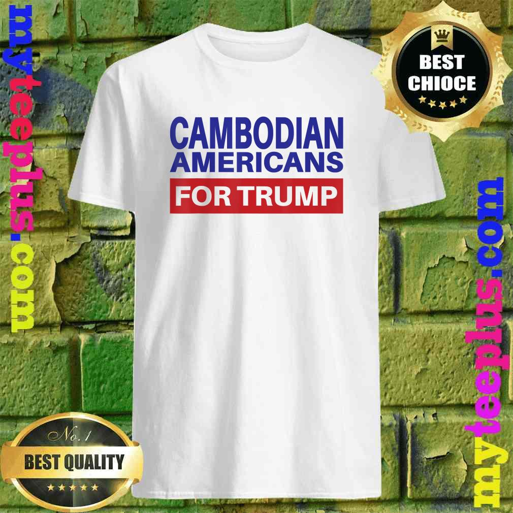 Cambodian Americans For Trump - Election 2020 Republican T-Shirt