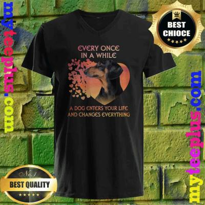 Every Once In A While A Dog Enters Your Life Dachshund v neck