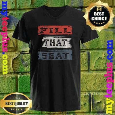 Fill That Seat Vintage Court Judge Fill The Seat Distressed v neck
