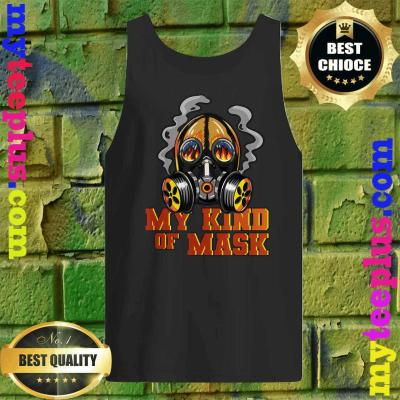 Fireman Flaming Mask My Kind Of Mask Fire Protection Gas Tank top