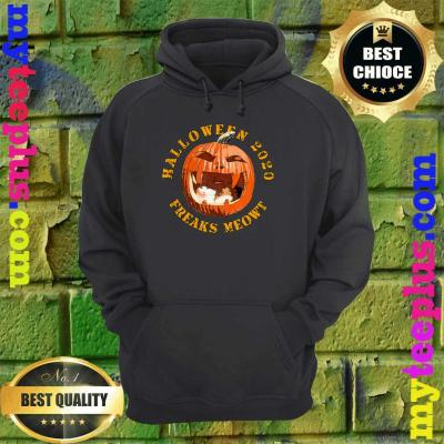 Freak Meowt Halloween 2020 Pumpkin Jackolantern Cat hoodie