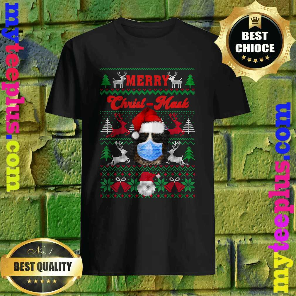 Greater Swiss Mountain Merry Christ-Mask Ugly Xmas Sweaters T-Shirt