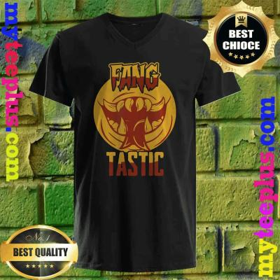 Halloween Vampire You are Fangtastic Funny v neck