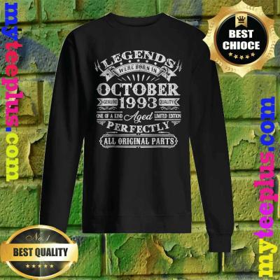 Legends Were Born In October 1993 27th Birthday Gifts Sweatshirt