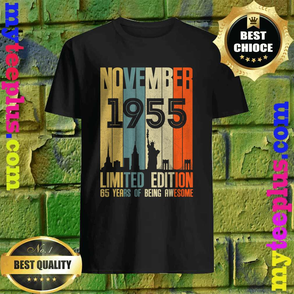 November 1955 Funny 65th Birthday 65 Years Old Gift T-Shirt