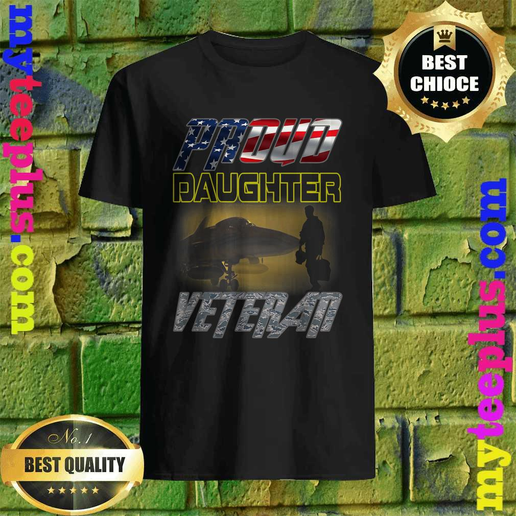 Vintage camouflage Flag Proud Daughter Air Force Veteran T-Shirt