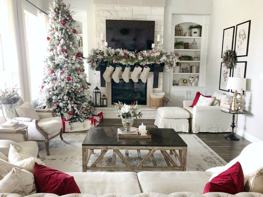 Christmas Home Tour With Pops Of Red My Texas House