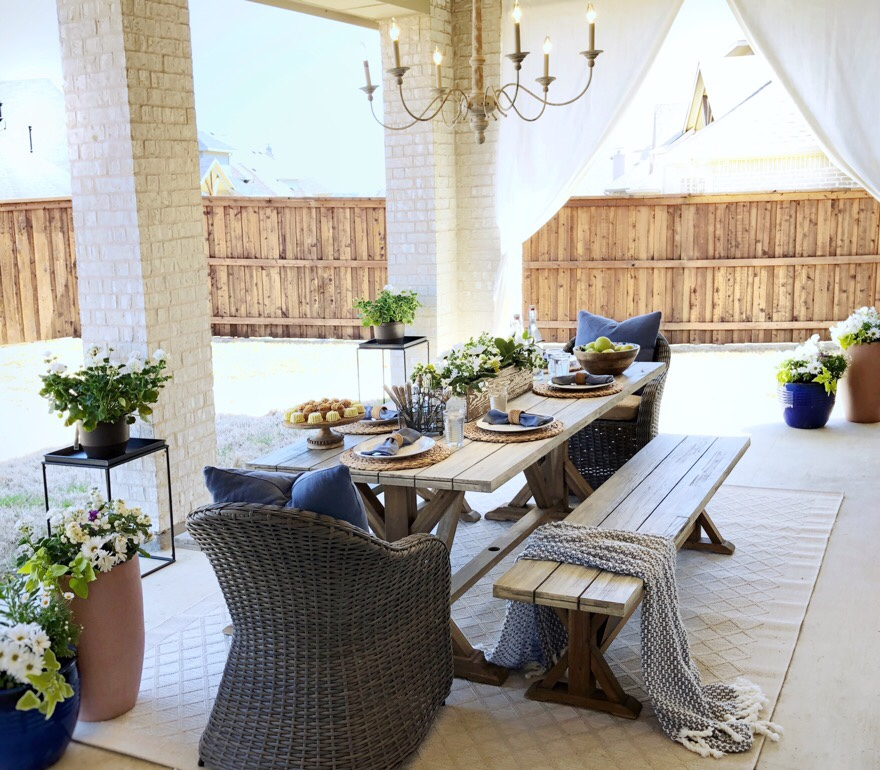 Outdoor Patio Makeover with World Market - My Texas House on Backyard Patio Makeover id=55171