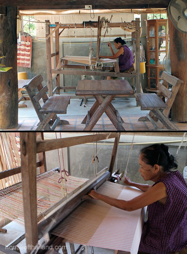 Cotton weaving in Thailand