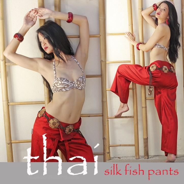 Thai silk fisherman pants as contemporary fashion