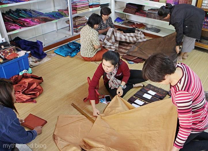 A Rural Thai silk shop in Yasoton Province.
