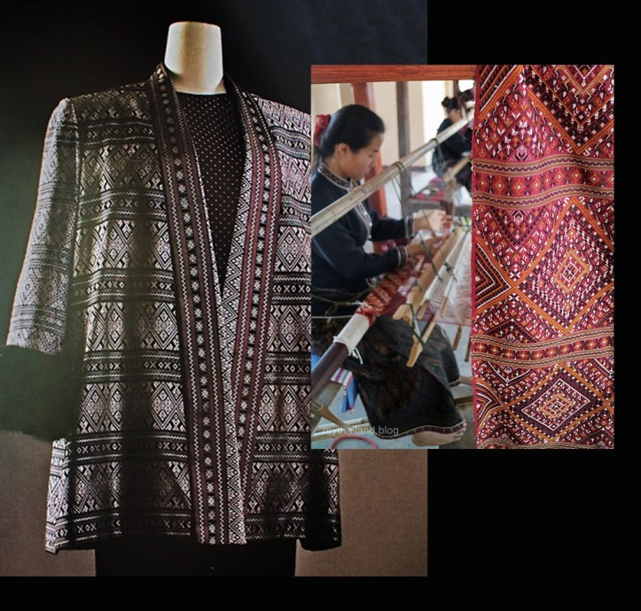 Praewa Thai Silk Jacket and Weaving silk fabric