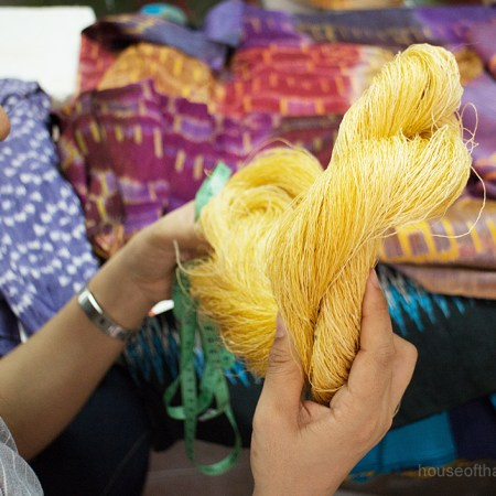 Unbleached native yellow Thai Silk Thread