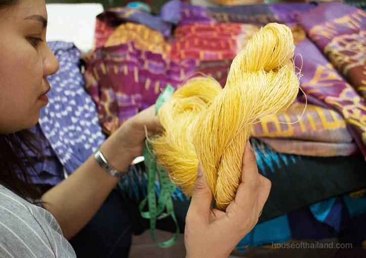 Unbleached native yellow Thai Silk Thread