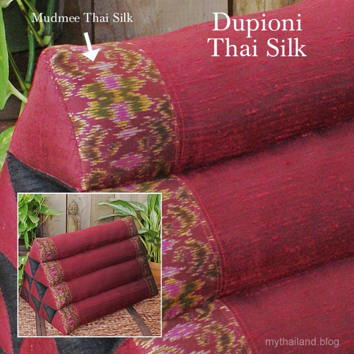 Dupioni Thai Silk Triangle Pillow