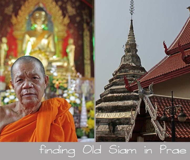 Prae, Thailand. A monk at his Buddhist temple.