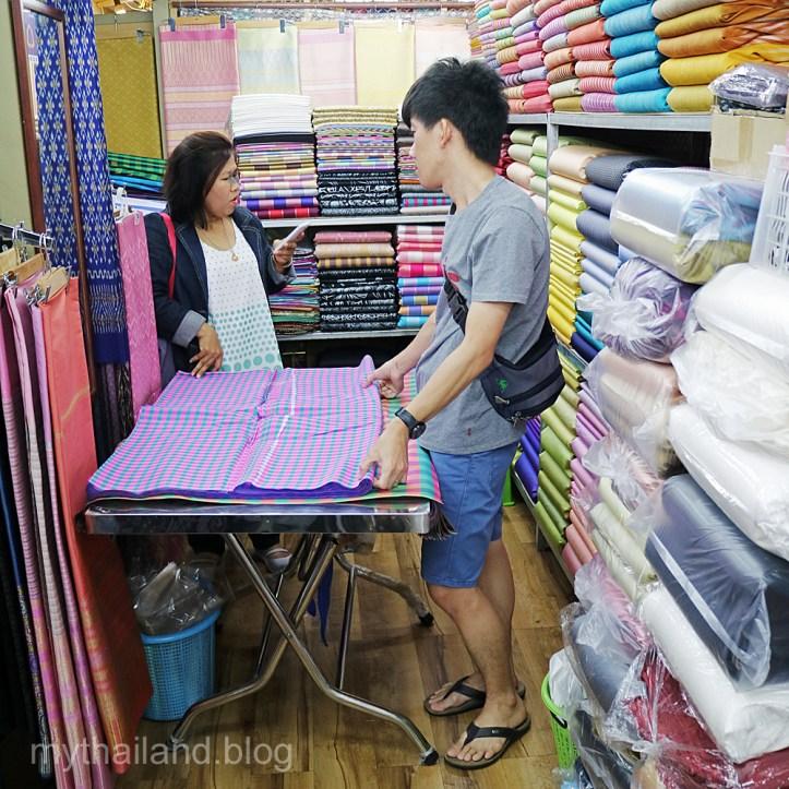 Buying Silk in Bangkok