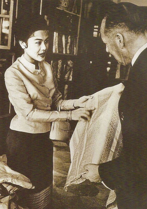 Queen Sirikit and Jim Thompson