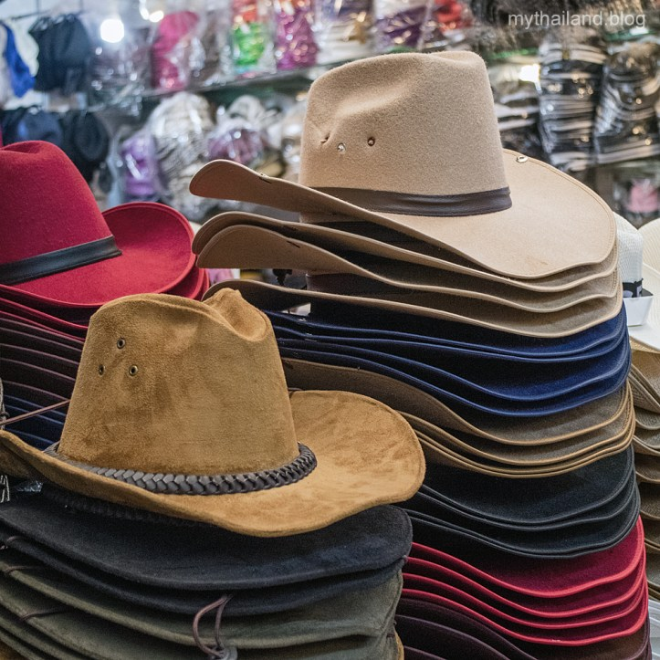 Cowboy hats at Pratunam Market