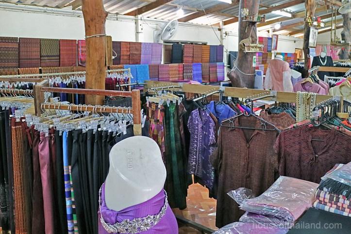 A Silk Shop in Ban Ta-Sa-Wan, Surin Province