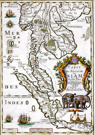 Map of Siam 1686