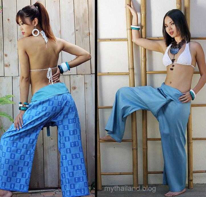 Thai silk Fisherman Pants