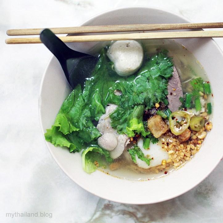 Thai food and chop sticks