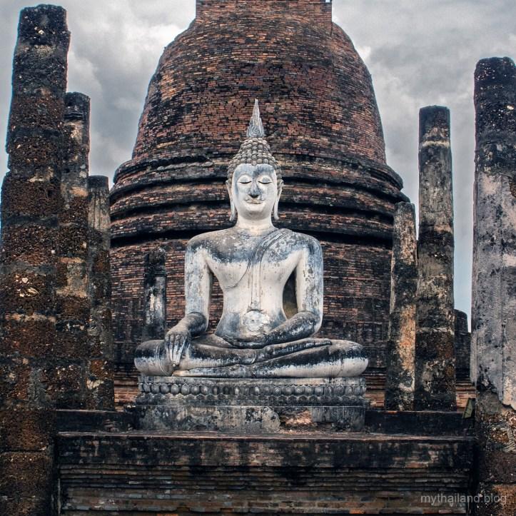 A stone Buddha at Sukhothai World Heritage Site