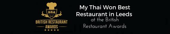 My Thai Restaurant Won as Best Restaurant in Leeds 1